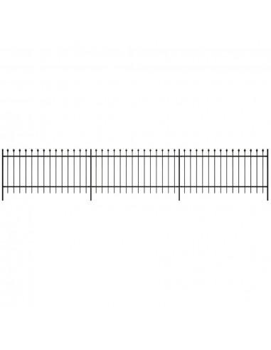 Dekoratyvinė Plieninių Virbų Tvora, Smailia Viršūne, Juoda, 80 cm | Tvoros Segmentai | duodu.lt