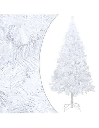 Dirbtinė Kalėdų eglutė su storomis šakomis, balta, 210cm, PVC | Šventiniai papuošimai | duodu.lt