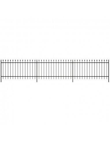 Dekoratyvinė Plieninių Virbų Tvora, Smailia Viršūne, Juoda, 100 cm | Tvoros Segmentai | duodu.lt