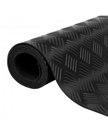 Guminis neslystantis grindų kilimėlis su kvadratėliais, 5 x 1 m | Grindys ir Kilimai | duodu.lt