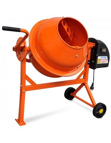 Elektrinė Betono Maišyklė, Plienas, 63 L, 220 W, Oranžinė | Cemento Maišytuvai | duodu.lt