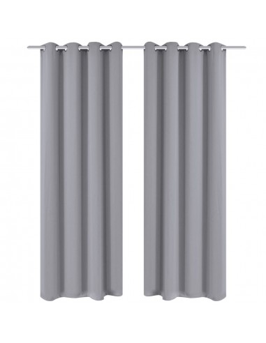 Pilkos Naktinės Užuolaidos su Metaliniais Žiedais, 135x245 cm, 2 Vnt. | Dieninės ir Naktinės Užuolaidos | duodu.lt