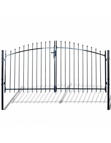 Dvigubi tvoros vartai su iečių viršugal. 300 x 200 cm   Vartai   duodu.lt