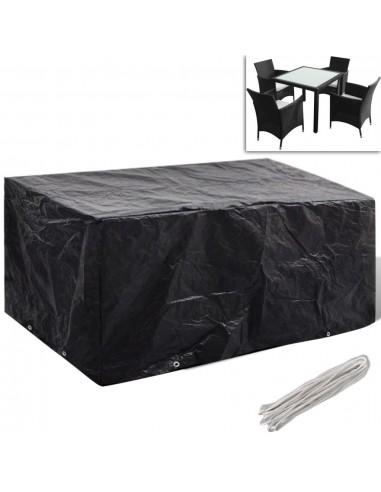 Sodo baldų uždangalų kompl., 4 žmon., polirat., 10 kilp., 180x140cm | Lauko Baldų Uždangalai | duodu.lt