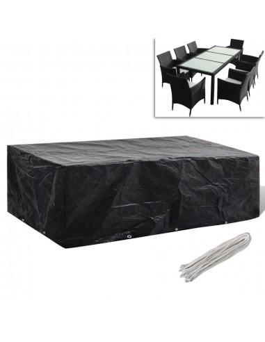 Sodo baldų uždangalų kompl., 8 žmon., polirat., 10 kilp., 300x140cm | Lauko Baldų Uždangalai | duodu.lt