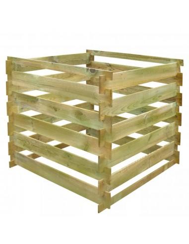 Kvadratinė Komposto Dėžė iš Medinių Lentelių, 0,54 m3 | Komposteriai | duodu.lt