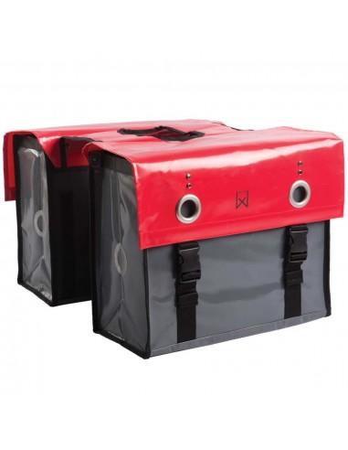 Willex Krepšys laikraščiams, raudonas ir tamsiai pilkas, 52l, 10929 | Dviračių krepšiai ir pintinės | duodu.lt