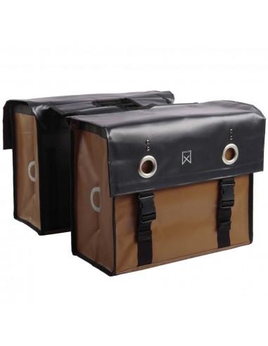Willex Krepšys laikraščiams, matinis juodas ir rudas, 52l, 10944   Dviračių krepšiai ir pintinės   duodu.lt