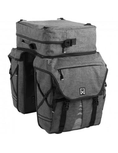 Willex Dviračio krepšiai su nuimamu viršumi XL 1200, antracito, 65l   Dviračių krepšiai ir pintinės   duodu.lt