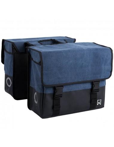 Willex Krepšys laikraščiams, mėlynas/matinis juodas, drobė, 40l, 15113 | Dviračių krepšiai ir pintinės | duodu.lt