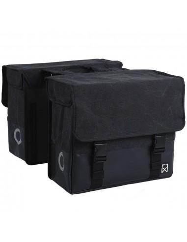 Willex Krepšys laikraščiams, juodas/matinis juodas, drobė, 48l, 15236   Dviračių krepšiai ir pintinės   duodu.lt