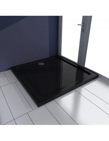 Kvadratinis ABS Dušo Padėklas, Juodas 80 x 80 cm | Dušo padėklai | duodu.lt