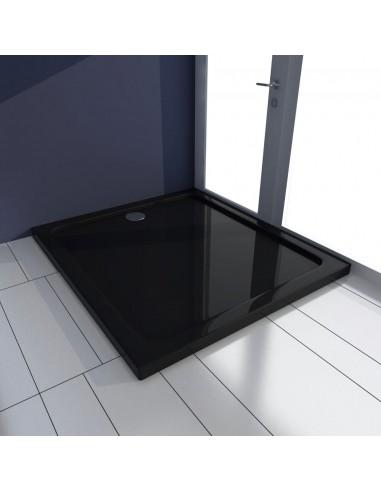Stačiakampis ABS Dušo Padėklas, Juodas 80 x 90 cm | Dušo padėklai | duodu.lt