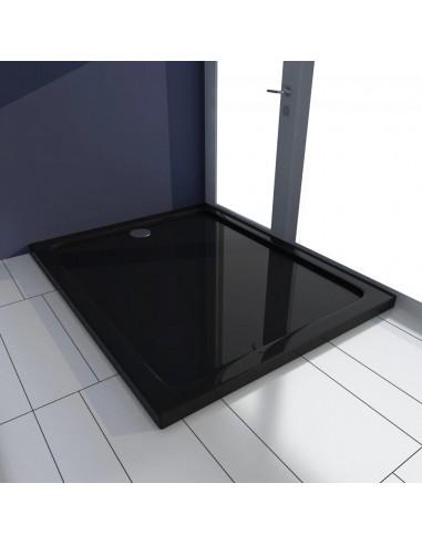 Stačiakampis ABS Dušo Padėklas, Juodas 80 x 100 cm | Dušo padėklai | duodu.lt