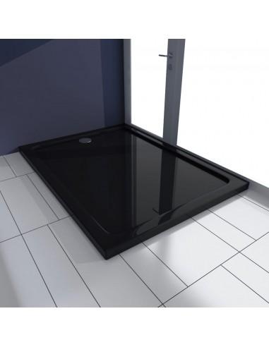 Stačiakampis ABS Dušo Padėklas, Juodas 80 x 110 cm   Dušo padėklai   duodu.lt