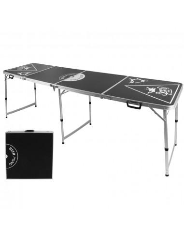 HI Sulankstomas Beer Pong žaidimo stalas, juodas, regul. aukščio | Beer pong stalai | duodu.lt