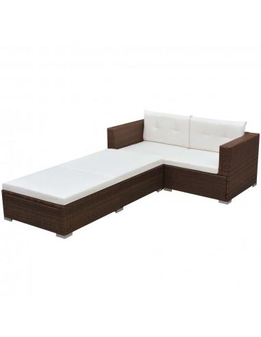 Sodo sofų komplektas, 8 dalių, poliratanas, rudas  | Lauko Baldų Komplektai | duodu.lt