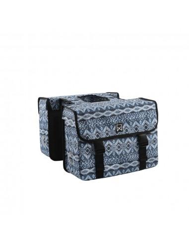 Willex Dviračio krepšys Indigo, mėlynas, 33l, dvigubas | Dviračių krepšiai ir pintinės | duodu.lt
