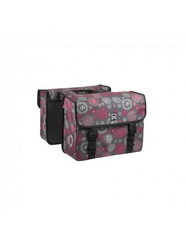 Willex Dviračio krepšys Cosmos, pilkas ir raudonas, 33l, dvigubas  | Dviračių krepšiai ir pintinės | duodu.lt