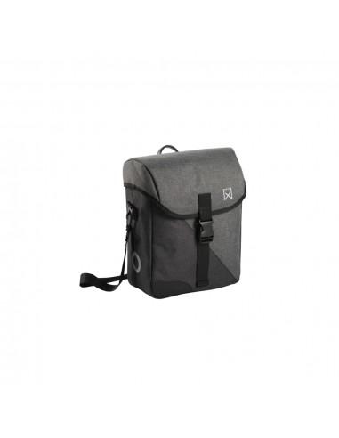 Willex Dviračio krepšys per petį Flex 800, pilkas ir juodas, 14l   Dviračių krepšiai ir pintinės   duodu.lt