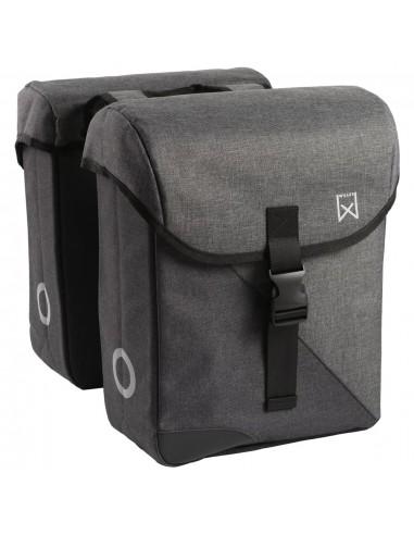 Willex Dviračio krepšys 800, pilkas ir raudonas, 33l, dvigubas   Dviračių krepšiai ir pintinės   duodu.lt