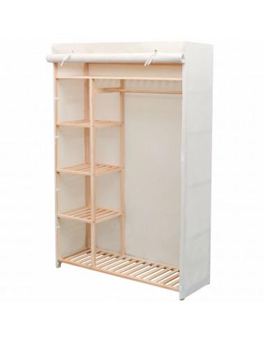 Drabužių spinta, audinys ir pušies mediena, 110x40x170cm | Drabužių spintos | duodu.lt