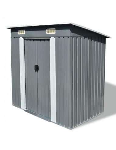 Sodo sandėliukas, pilkas, metalinis   Stoginės, garažai ir pastogės   duodu.lt