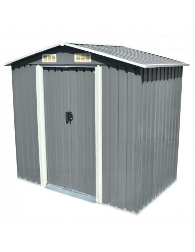 Sodo sandėliukas, pilkas, metalas, 204x132x186 cm   Stoginės, garažai ir pastogės   duodu.lt