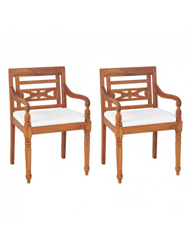 Batavia Sodo kėdės, 2vnt., tikmedis, 55x51,5x84cm | Lauko Kėdės | duodu.lt