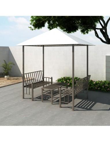 Sodo paviljonas su staliuku ir suoliukais, 2,5x1,5x2,4m   Tentai ir Pavėsinės   duodu.lt