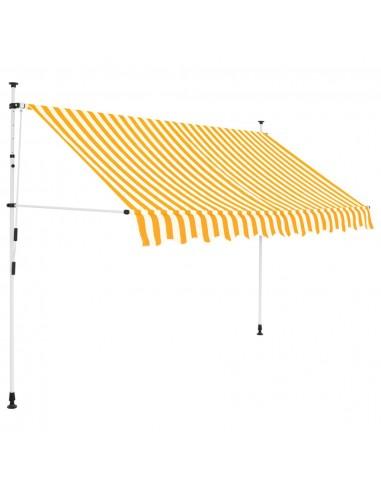 Rankiniu būdu ištraukiama markizė, 250cm, geltoni/balti dryžiai | Langų ir durų markizės | duodu.lt