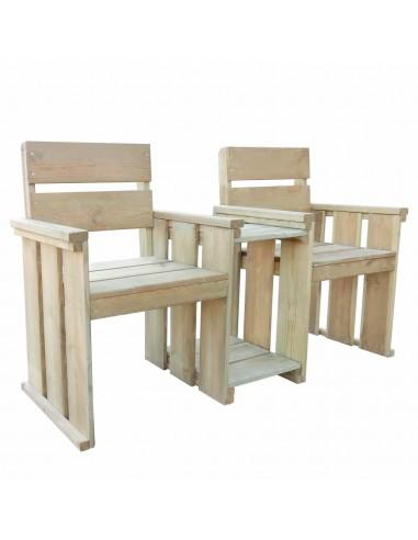 Dvivietis sodo suoliukas, 150x55x89 cm, impreg. pušies mediena | Lauko Suolai | duodu.lt