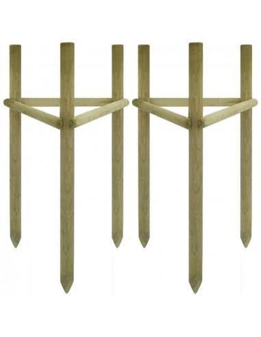 Kuolai medeliams, 2vnt., impregn. pušies mediena, 50x45x150cm | Atramos ir grotelės augalams | duodu.lt