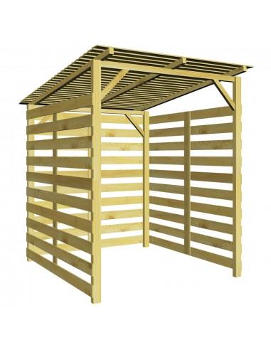 Sodo malkinė, impregnuota pušies mediena, 170x200x200cm   Stovai ir Transportavimo Priemonės Malkoms   duodu.lt