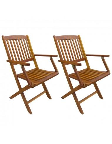 Sulankstomos lauko valgomojo kėdės, 2 vnt., akacijos mediena   Lauko Kėdės   duodu.lt
