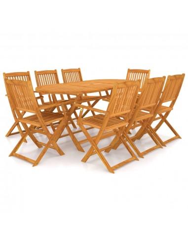 Lauko valgomojo baldų komplektas, 9d., masyvi akacijos mediena   Lauko Baldų Komplektai   duodu.lt