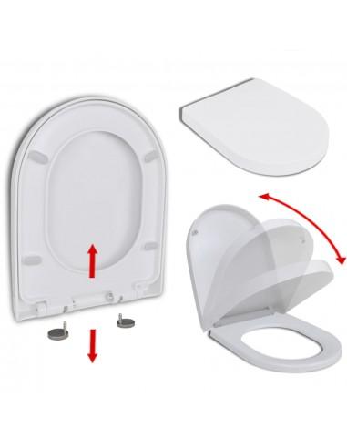Klozeto sėdynė su Soft Close mechanizmu, kvadrato formos, balta   Klozetų ir Bidė Sėdynės   duodu.lt