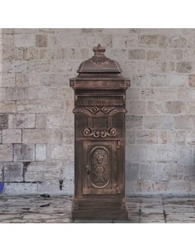 Pašto dėžutė, kolonos pavid., aliuminis, nerūd., bronzinės sp. | Dėžutės laiškams | duodu.lt