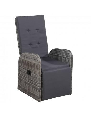 Lauko krėslas, poliratanas, 57x73x105cm, pilkas   Lauko Kėdės   duodu.lt