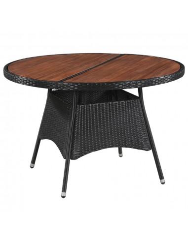 Lauko valgomojo stalas, polir. ir akac. med. mas., 115x74cm | Lauko Staliukai | duodu.lt