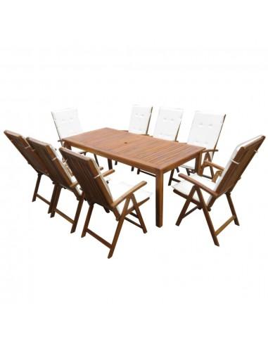 Lauko valgomojo baldų komplektas, 17d., akacijos med. masyvas   Lauko Baldų Komplektai   duodu.lt