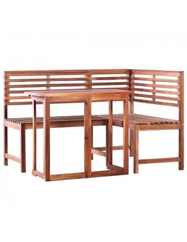 Balkono staliuko ir kamp. suol. kompl., 2d., akac. med. mas. | Lauko Baldų Komplektai | duodu.lt