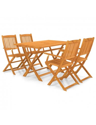 Lauko valgomojo baldų kompl., 5d., akacijos medienos masyvas | Lauko Baldų Komplektai | duodu.lt
