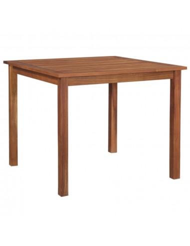 Lauko valgomojo stalas, akacijos medienos masyvas, 90x90x74cm  | Lauko Staliukai | duodu.lt