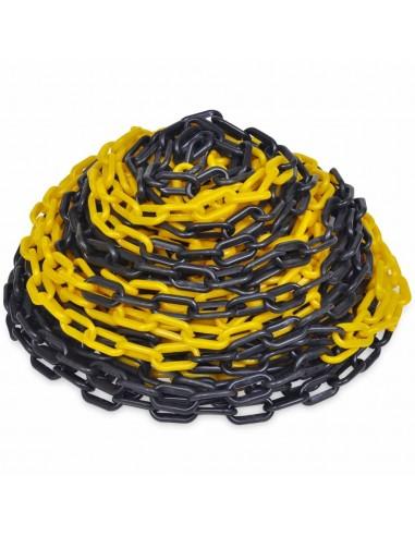 Plastikinė Įspėjamoji Grandinė, Geltona ir Juoda, 30 m | Saugos ženklai | duodu.lt