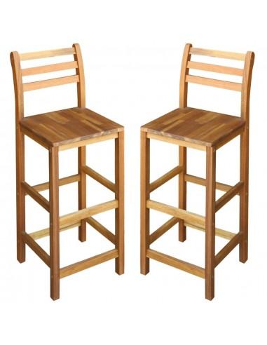 Baro kėdės, 2vnt., masyvi akacijos mediena, 42x36x110cm | Stalai ir Baro Kėdės | duodu.lt