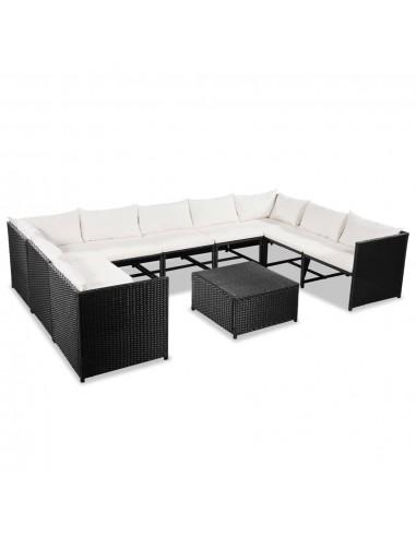 Sodo sofos kompl., 30d., polirat., juodos ir krem. baltos sp.  | Lauko Baldų Komplektai | duodu.lt