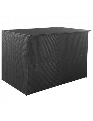 Lauko daiktadėžė, poliratanas, 150x100x100cm, juoda | Lauko daiktadėžės | duodu.lt