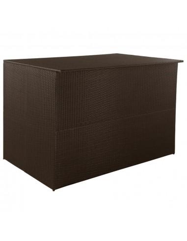 Lauko daiktadėžė, poliratanas, 150x100x100cm, ruda | Lauko daiktadėžės | duodu.lt