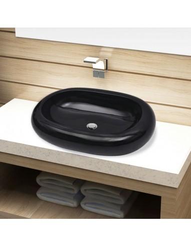 Keramikinis Vonios Praustuvas, Juodas, Ovalo Formos   Vonios praustuvai   duodu.lt